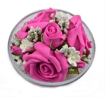 Handmade Flower Soap Scented (Dark Pink)