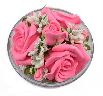Handmade Flower Soap Scented (Pink)