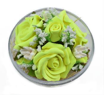 Handmade Flower Soap Scented (Yellow)